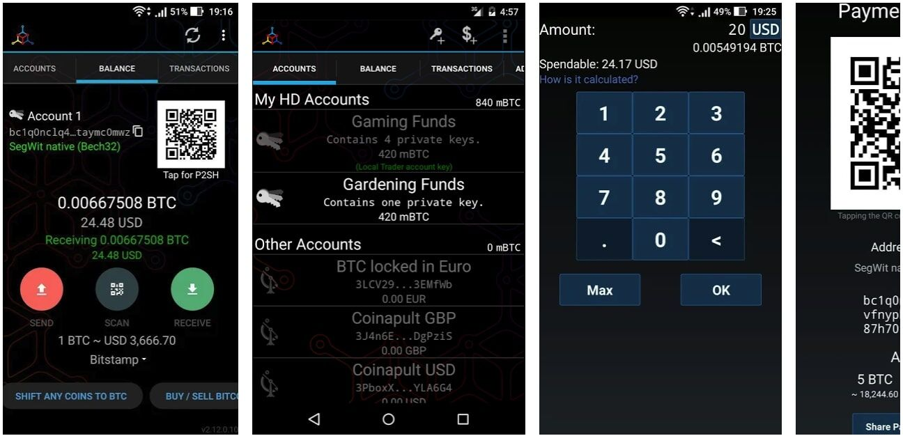 Mycelium wallet android