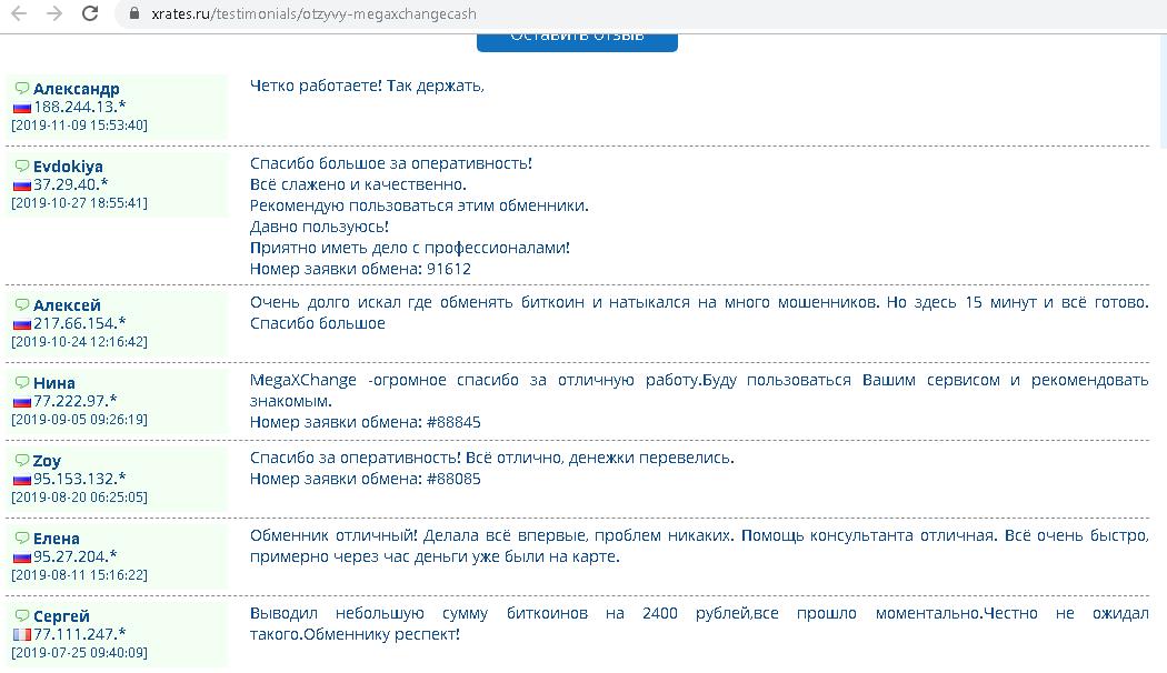 MegaXChange отзыв
