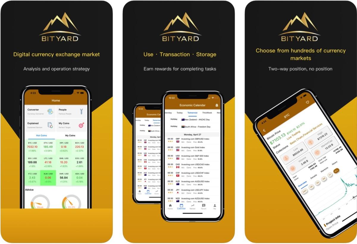 Bityard - мобильная версия биржи