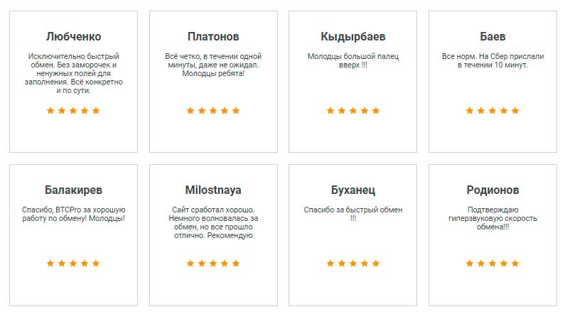 Отзывы на сайте BTCPro24.com